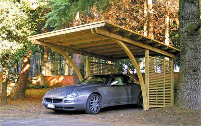 Carport in legno carport per auto covercar in legno for Amore legnami